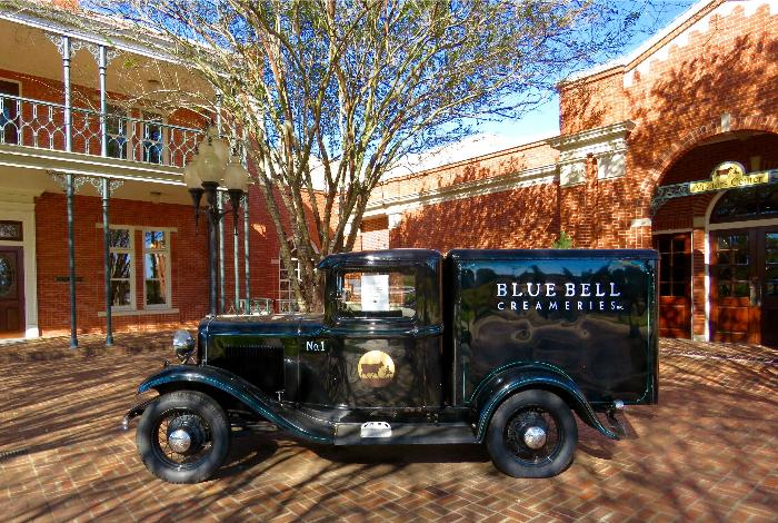 Antique Blue Bell Ford Delivery Truck