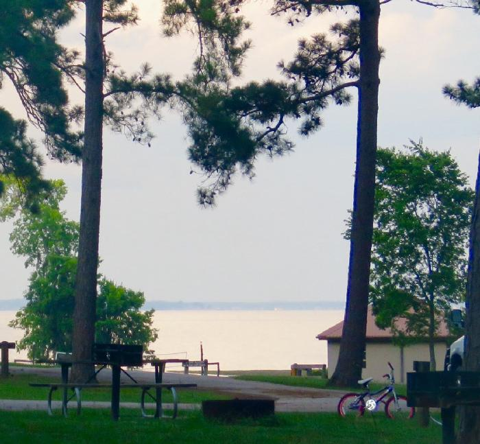 Our View of Lake Livingston in the Distance