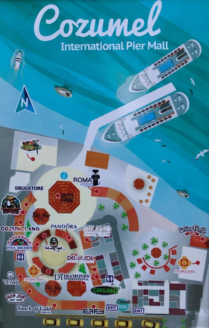 Cozumel International Pier Mall Map