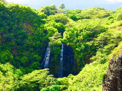 Waterfalls in Northeast Kauai