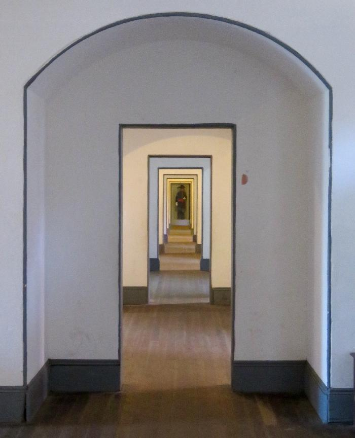Corridors of Fort Point's Living Quarters
