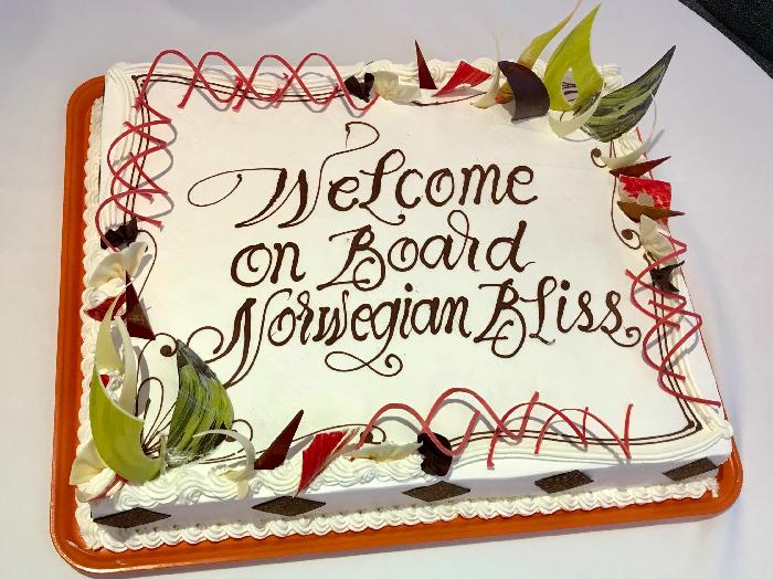 Surprise Welcome Aboard Cake