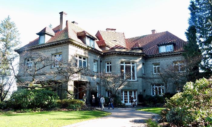 Entrance to the Pittock Mansion