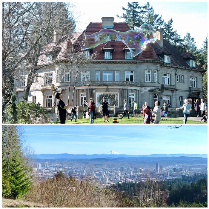 Grounds at Pittock Mansion (Top) & Panoramic Views (Bottom)