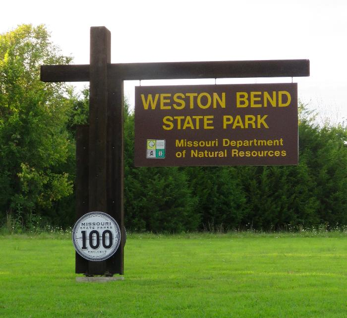 Entrance to Weston Bend State Park