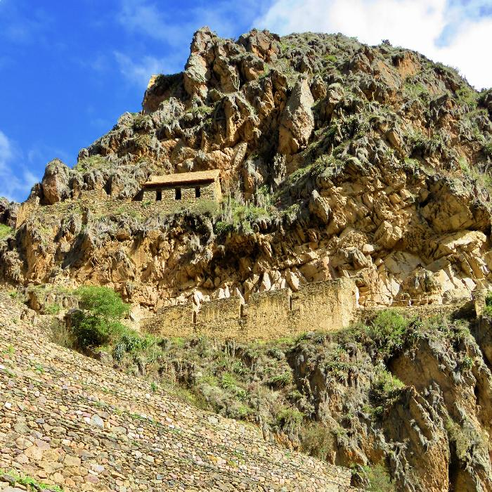 Hillside Trail through Ollantaytambo Ruins