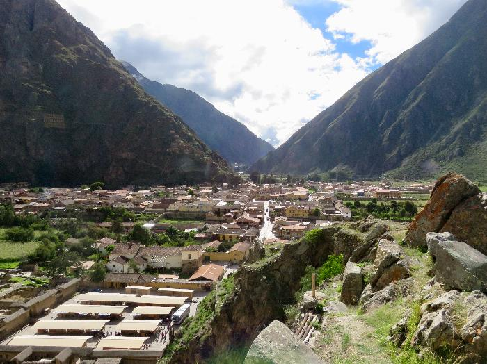 View of Market and Town of Ollantaytambo