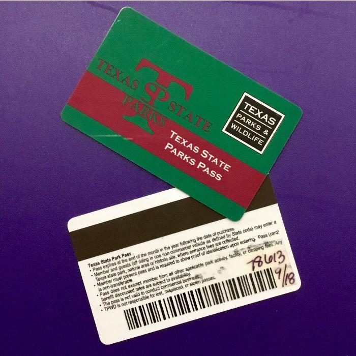 Our Expired Texas State Parks Pass