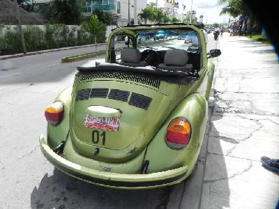 Driving a Beat-up VW on Cozumel is Great Fun