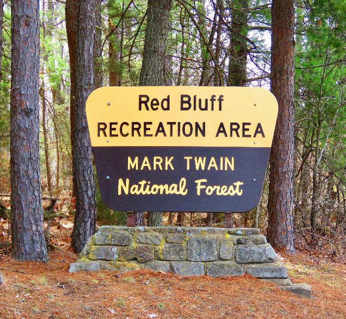 Entrance to Red Bluff Recreation Area