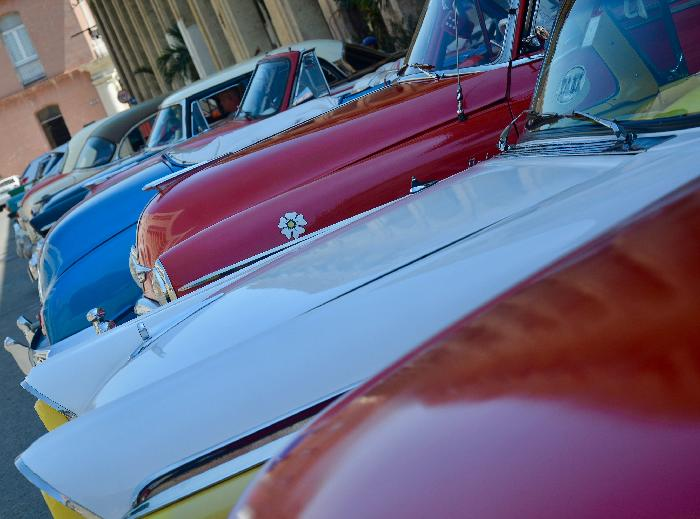 Classic Car Line Up (photographed by Yosel Vazquez)