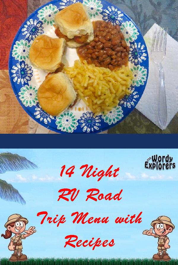 14 Night RV Road Trip Menu with Recipes