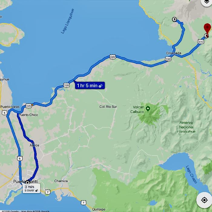 Round Trip Route from Puerto Montt to Vicente Perez Rosales National Park