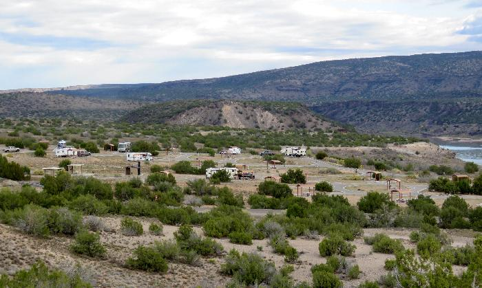 Cochiti Lake Recreation Area Camping from Overlook