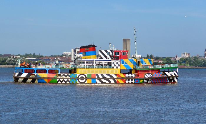 Mersey Ferry in Liverpool, England
