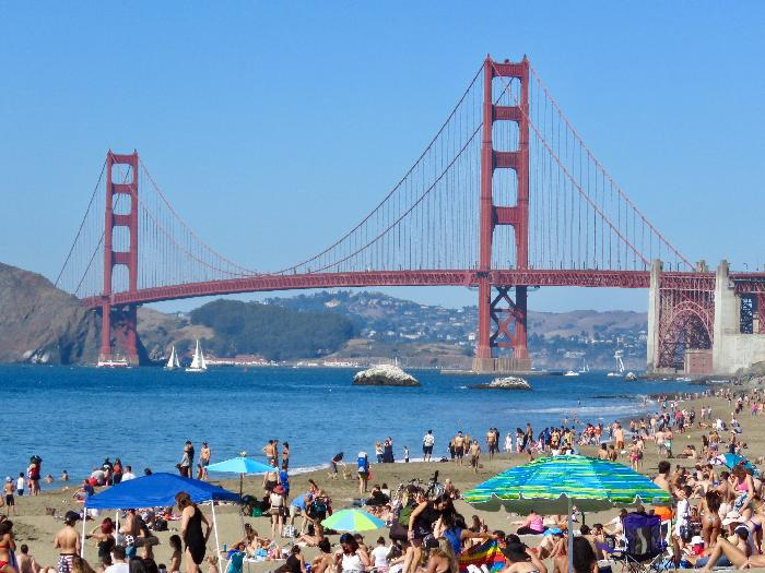 Golden Gate Bridge from San Francisco's Baker Beach