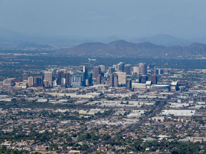 Downtown Phoenix from Dobbins Lookout on South Mountain