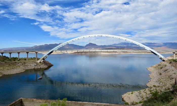 Roosevelt Lake Bridge in Tonto National Forest, Roosevelt, Arizona