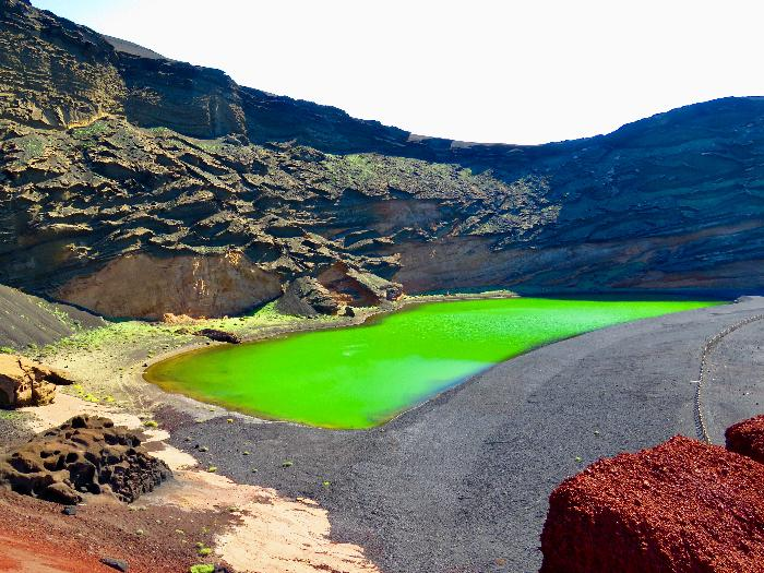 The Green Lagoon on Lanzarote, Canary Islands