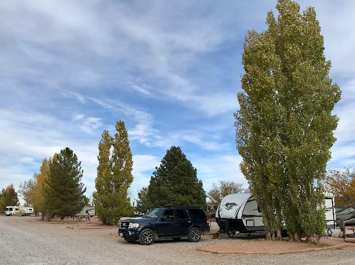 Sites 25 - 30 at Meteor Crater RV Park