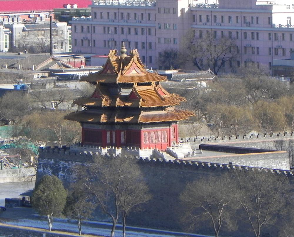 View of Forbidden City from Yin Bar at Emperor Hotel