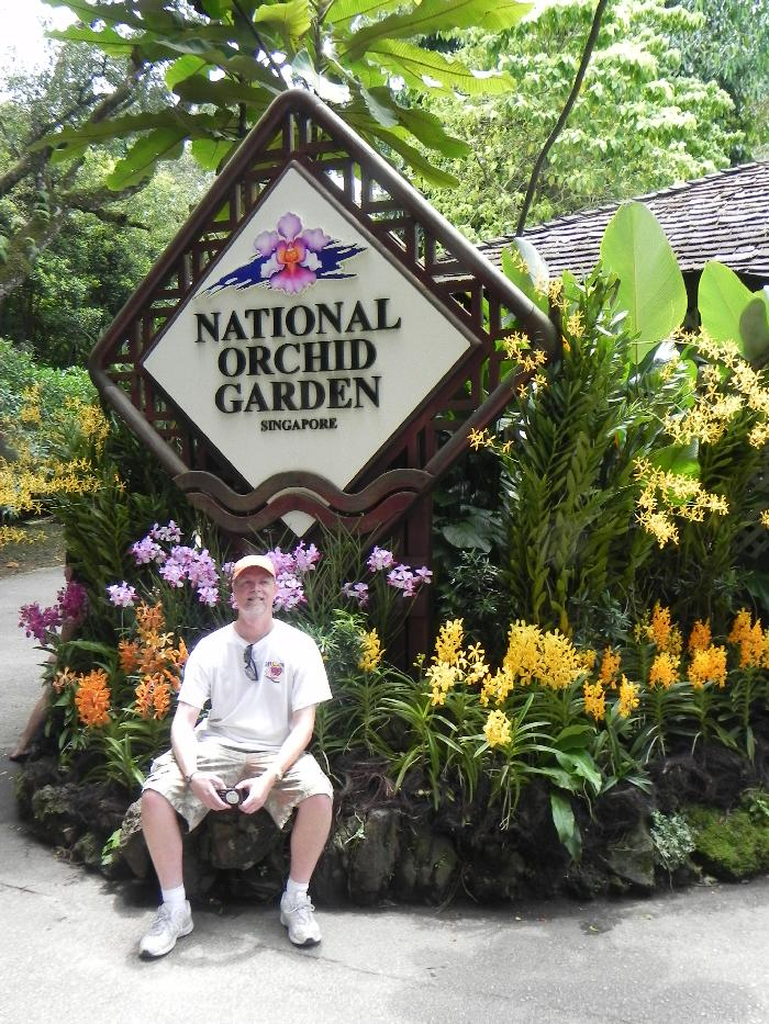 Entering Singapore's National Orchid Garden
