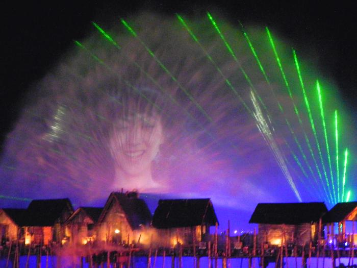 "Sentosa's ""Songs of the Sea"" Laser Light Image"