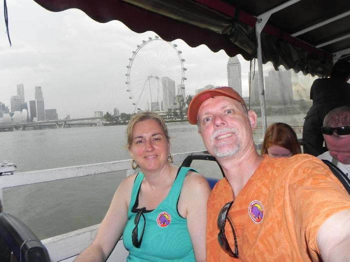 Splashing in Marina Bay on a Duck Tour