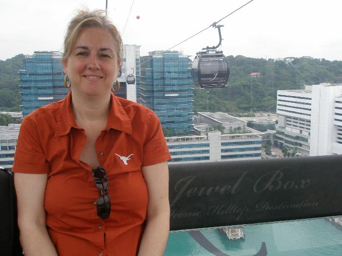 Riding on the Singapore Cable Car
