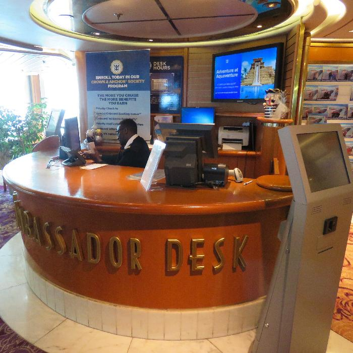 Rhapsody of the Seas Loyalty Ambassador Desk