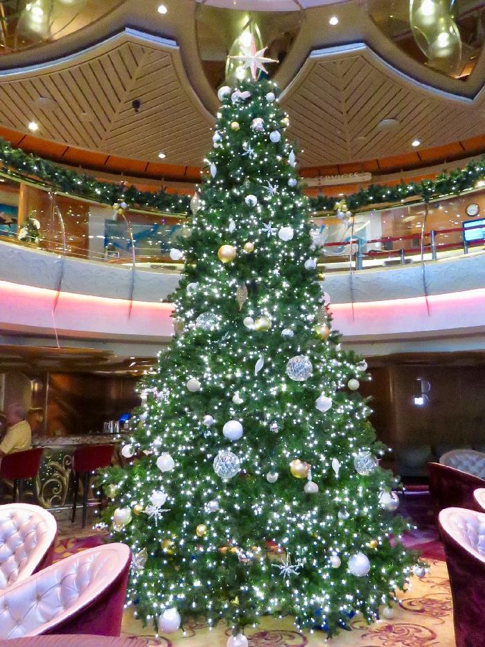 Christmas Decor in the Rhapsody of the Seas Centrum