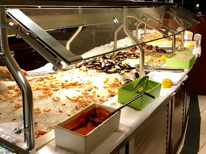 Seafood Buffet in Windjammer Cafe on Rhapsody of the Seas