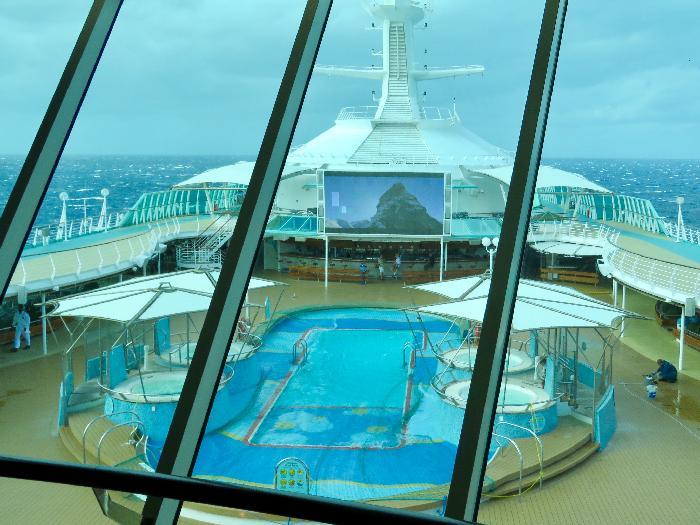 View from Viking Crown Lounge on Rhapsody of the Seas
