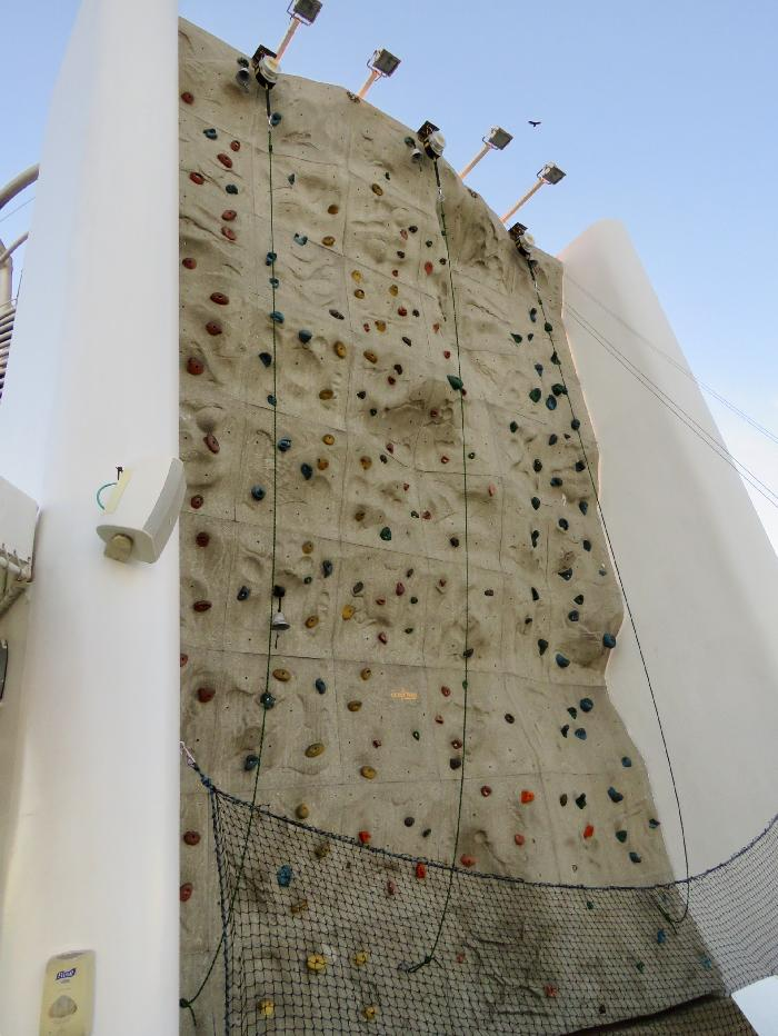 Rhapsody of the Seas Rock Climbing Wall