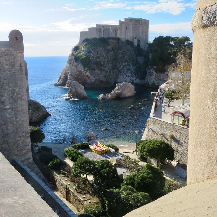 View from the Ancient City Walls Surrounding Dubrovnik