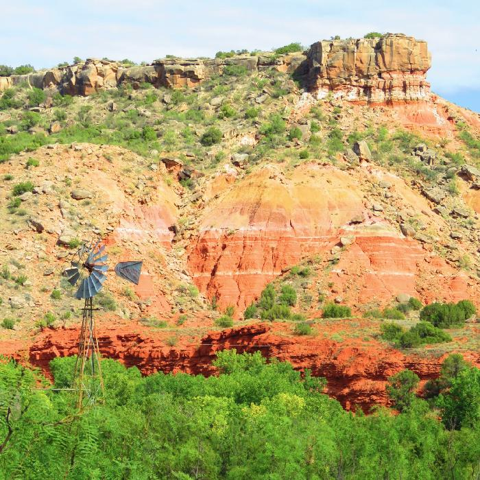 Looking Up at Palo Duro Canyon's Rim