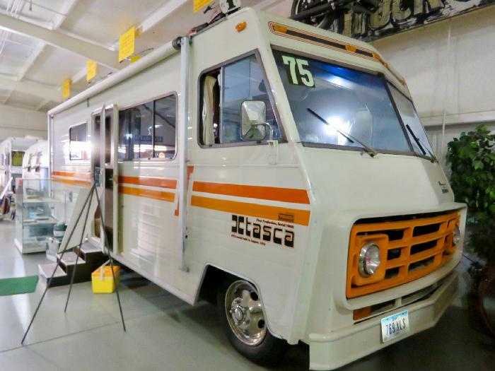 1975 Itasca Motorhome on display at Jack Sisemore RV Museum