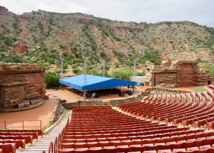 Preparing Palo Duro Canyon's Pioneer Amphitheatre for a Concert in the Canyon