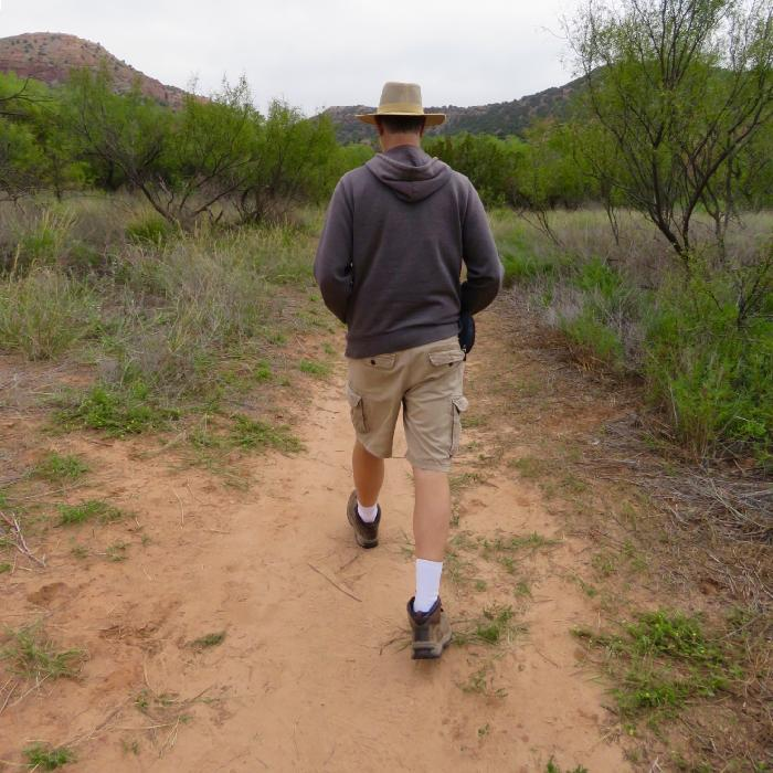 Hiking at Palo Duro Canyon State Park