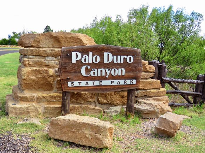 Entrance to Palo Duro Canyon State Park
