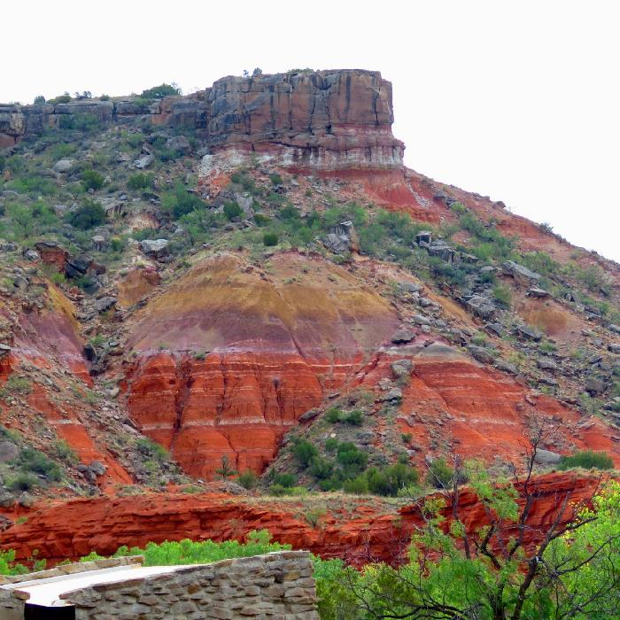 Colorful Geological Layers of Palo Duro Canyon
