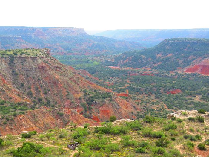 View from CCC Overlook at Palo Duro Canyon State Park