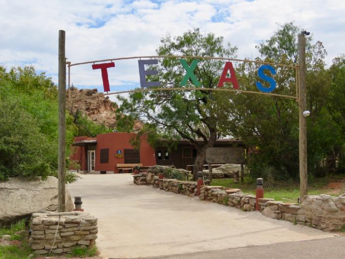 Entrance to Pioneer Amphitheater, Home of the outdoor musical TEXAS