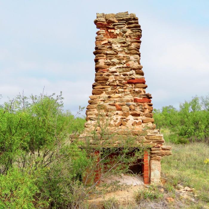 Fireplace and Chimney from CCC Camp at Palo Duro Canyon