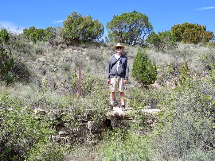 Crossing the Historic CCC Bridge at Palo Duro Canyon State Park