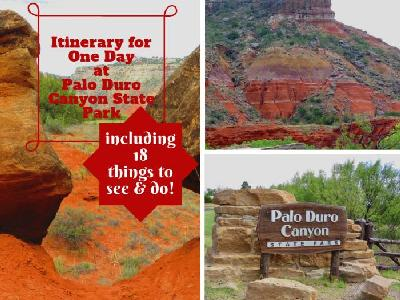 Itinerary for One Day at Palo Duro Canyon State Park