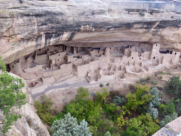 View of Mesa Verde's Cliff Palace from Overlook
