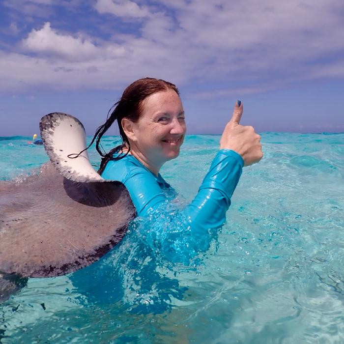 Orion's got my back in Grand Cayman  - Photo Courtesy of Stingray City