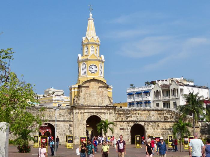 Clock Tower Gate in Cartagena, Colombia