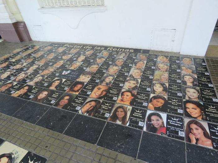 Sidewalk on Calle de la Inquisicion in front of Miss Colombia Office